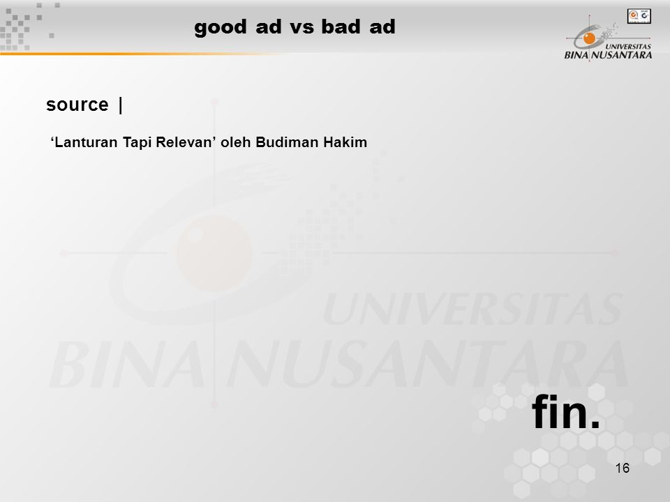 fin. good ad vs bad ad source |