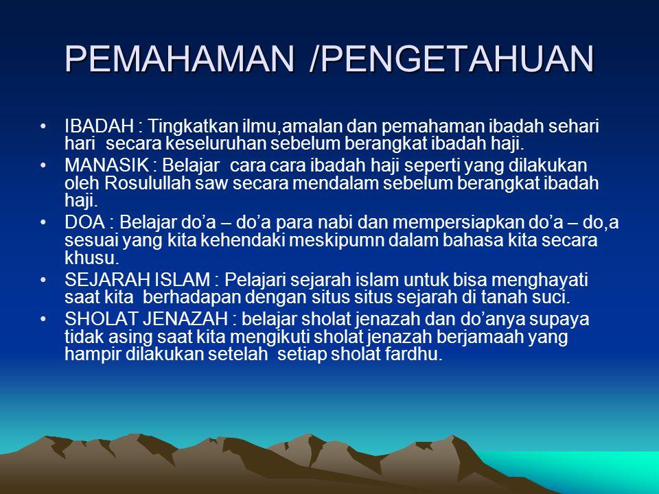 PEMAHAMAN /PENGETAHUAN