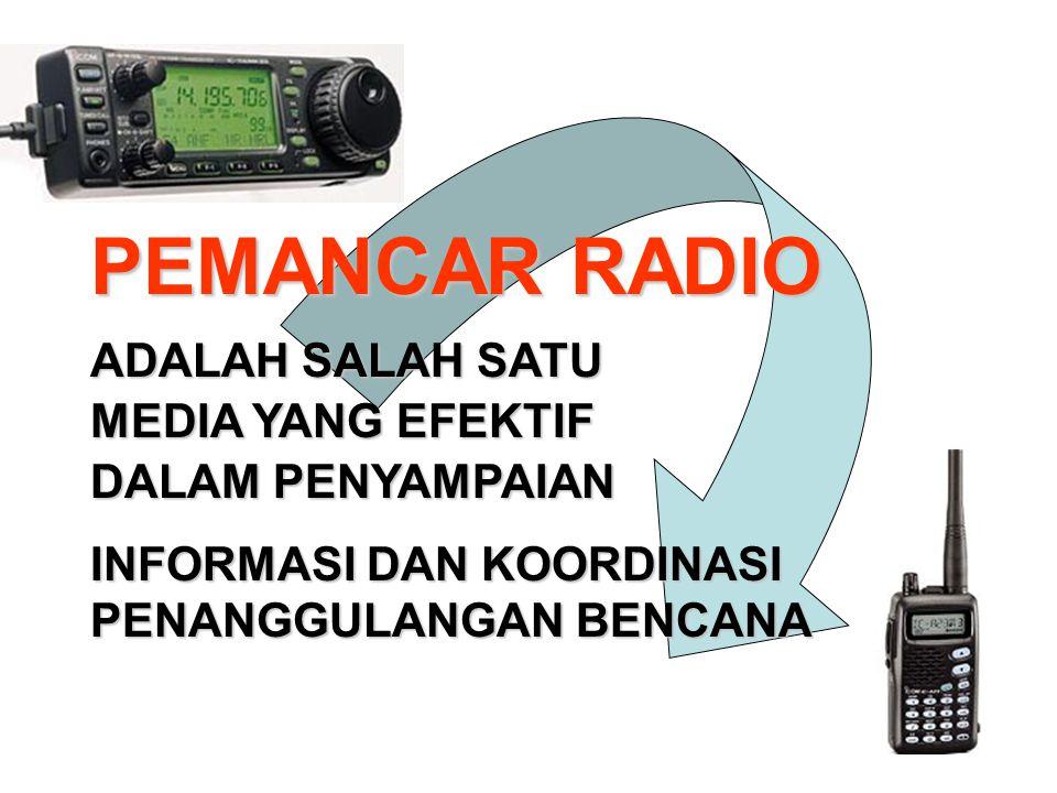 PEMANCAR RADIO ADALAH SALAH SATU MEDIA YANG EFEKTIF DALAM PENYAMPAIAN