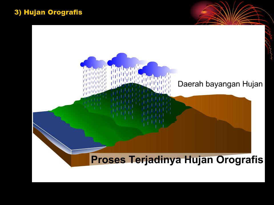 3) Hujan Orografis