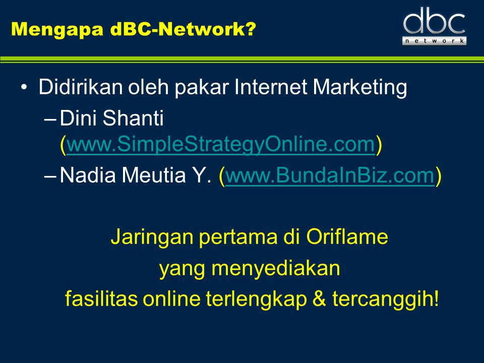 Didirikan oleh pakar Internet Marketing