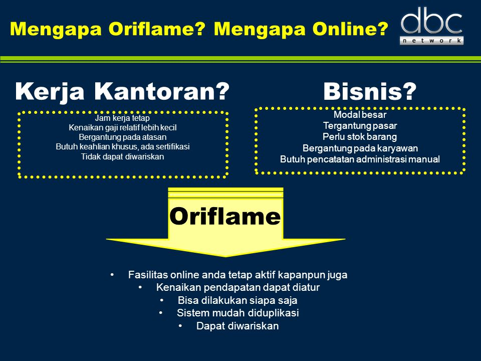 Kerja Kantoran Bisnis Oriflame Mengapa Oriflame Mengapa Online