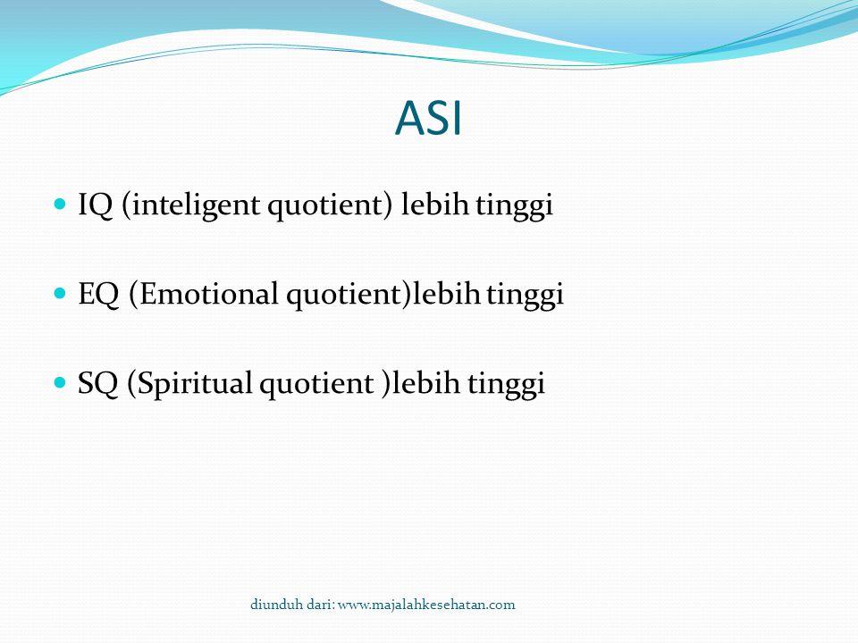 ASI IQ (inteligent quotient) lebih tinggi
