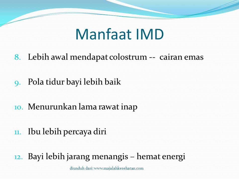 Manfaat IMD Lebih awal mendapat colostrum -- cairan emas