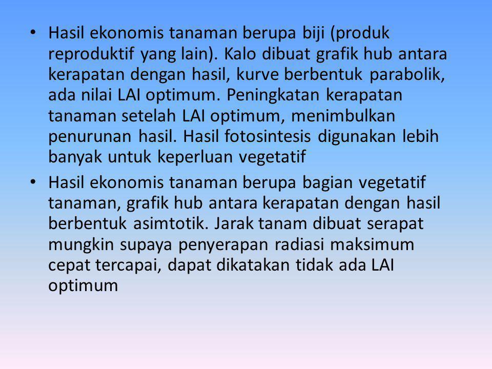Hasil ekonomis tanaman berupa biji (produk reproduktif yang lain)