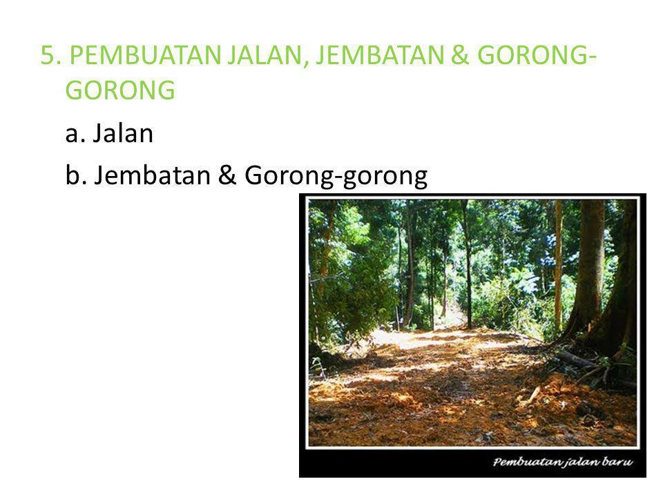 5. PEMBUATAN JALAN, JEMBATAN & GORONG-GORONG a. Jalan b