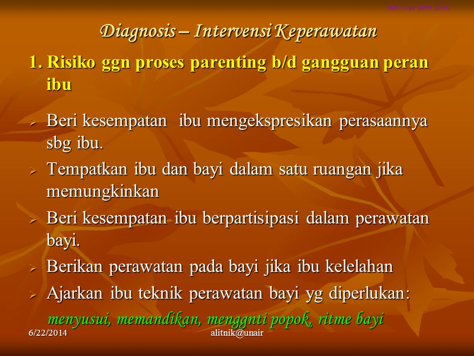 Diagnosis – Intervensi Keperawatan