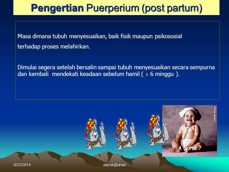 Pengertian Puerperium (post partum)