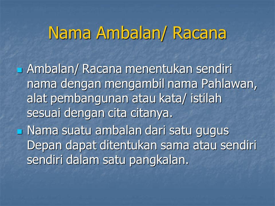 Nama Ambalan/ Racana