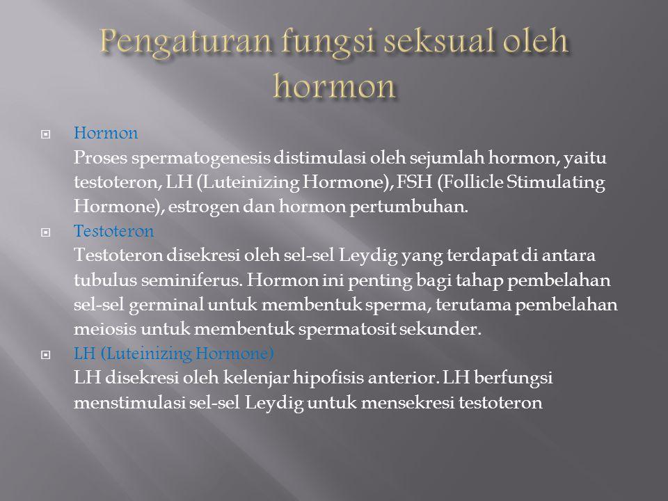 Pengaturan fungsi seksual oleh hormon
