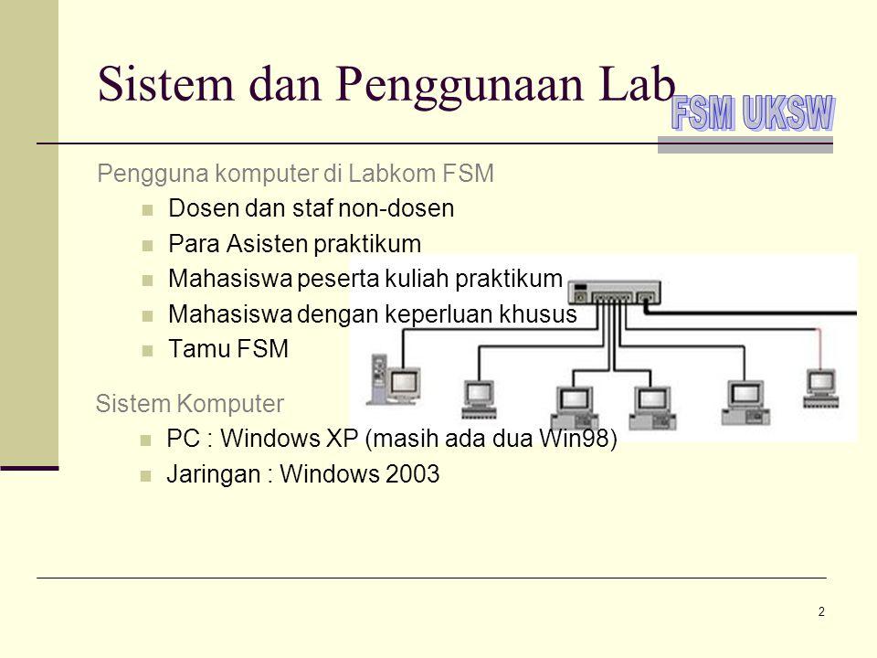 Sistem dan Penggunaan Lab