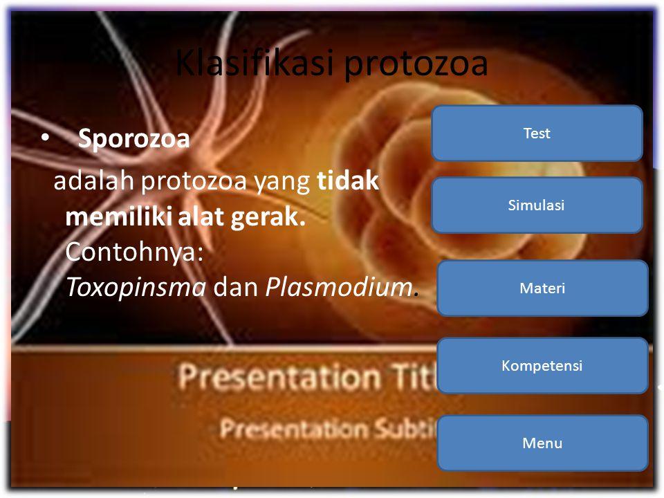 Klasifikasi protozoa Sporozoa