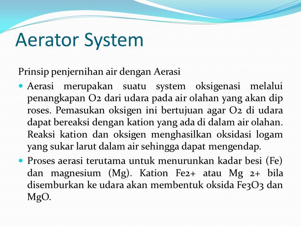 Aerator System Prinsip penjernihan air dengan Aerasi