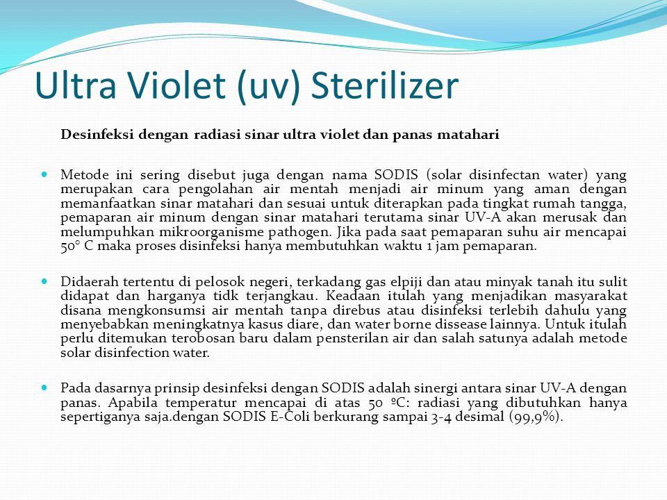 Ultra Violet (uv) Sterilizer