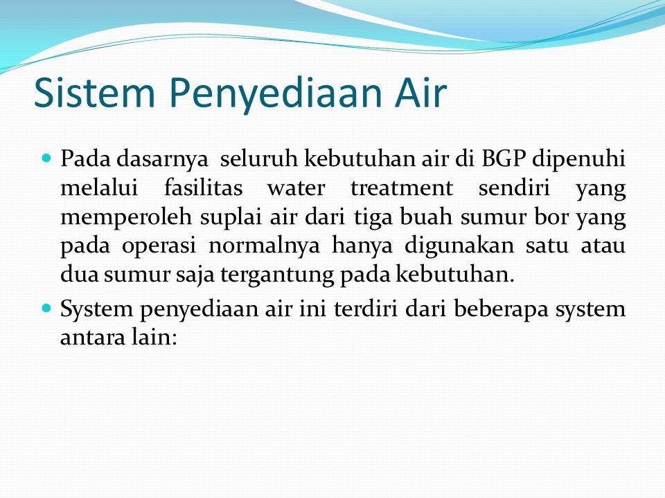 Sistem Penyediaan Air