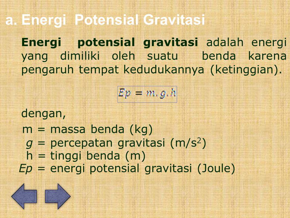 a. Energi Potensial Gravitasi