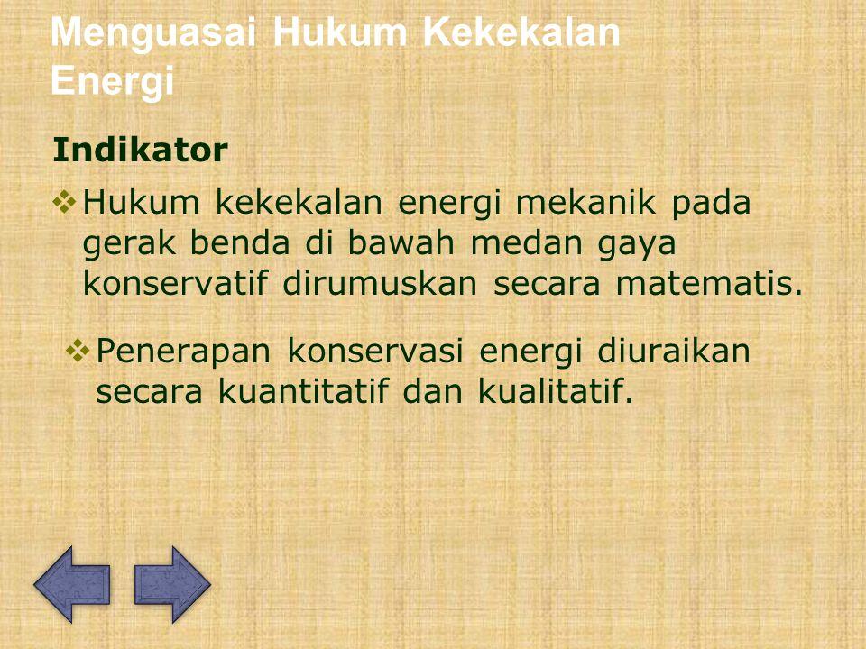 Menguasai Hukum Kekekalan Energi