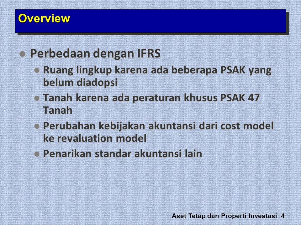Perbedaan dengan IFRS Overview