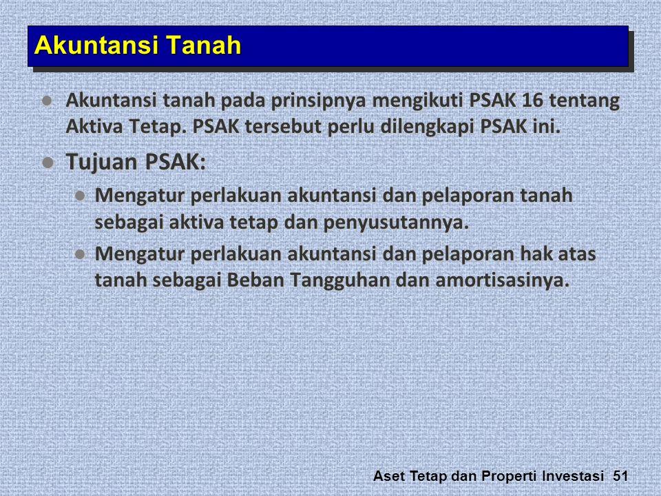 Akuntansi Tanah Tujuan PSAK:
