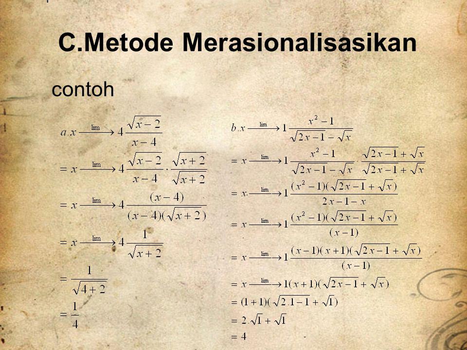 C.Metode Merasionalisasikan