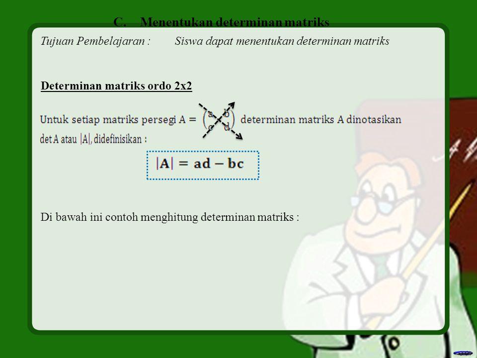 Menentukan determinan matriks