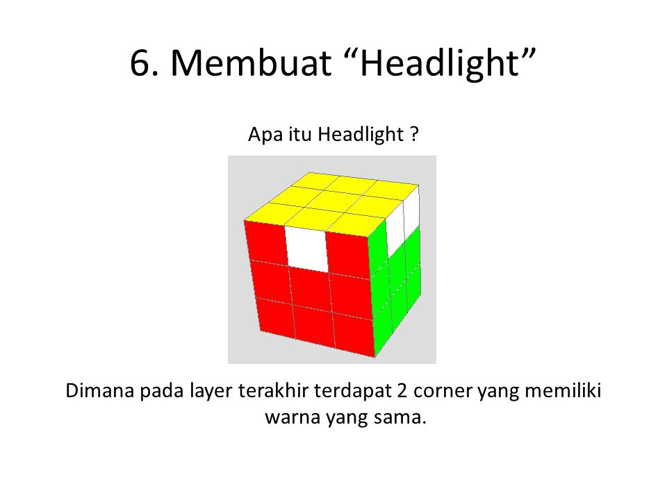 6. Membuat Headlight Apa itu Headlight .