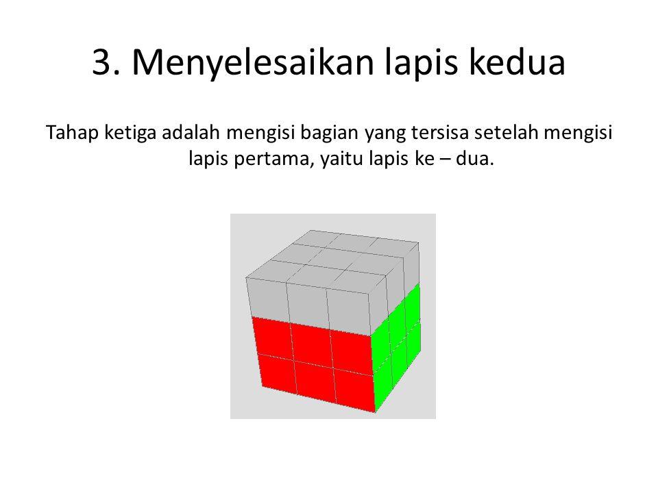 3. Menyelesaikan lapis kedua