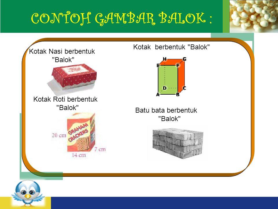 CONTOH GAMBAR BALOK : Kotak berbentuk Balok Kotak Nasi berbentuk