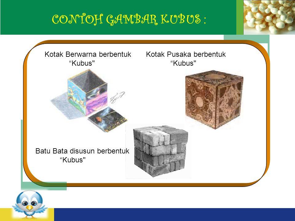 CONTOH GAMBAR KUBUS : Kotak Berwarna berbentuk Kubus