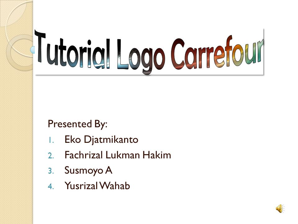 Tutorial Logo Carrefour