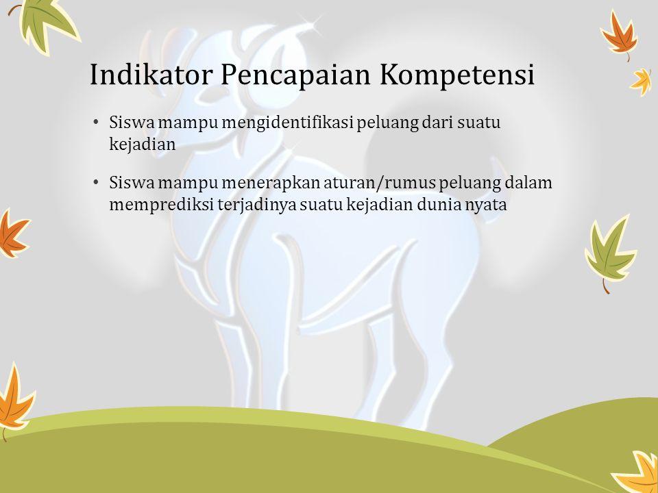 Indikator Pencapaian Kompetensi