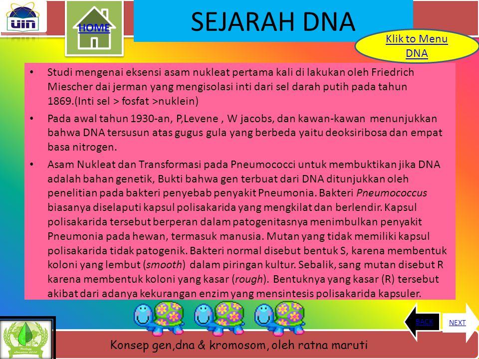 SEJARAH DNA HOME Klik to Menu DNA
