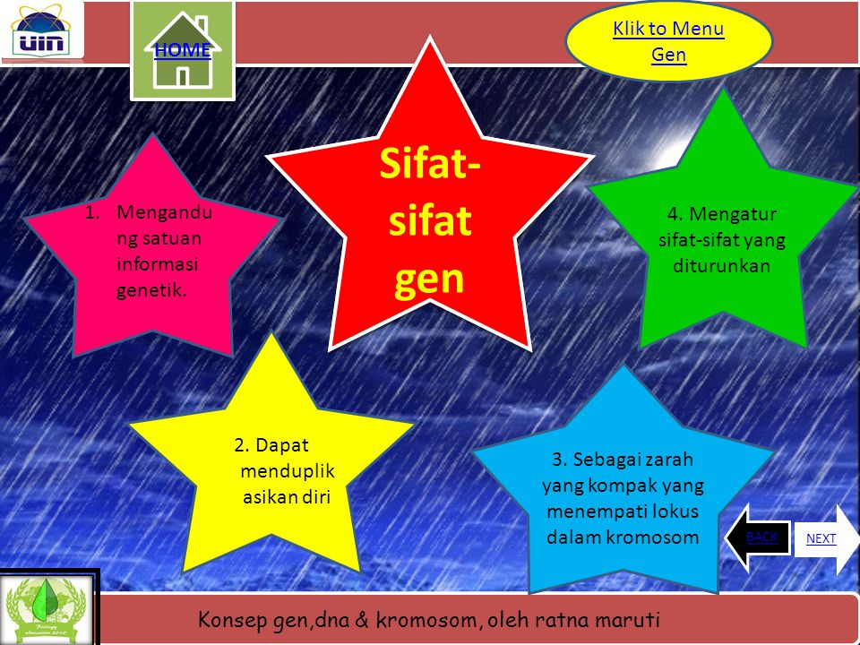 Sifat- sifat Sifat- sifat gen