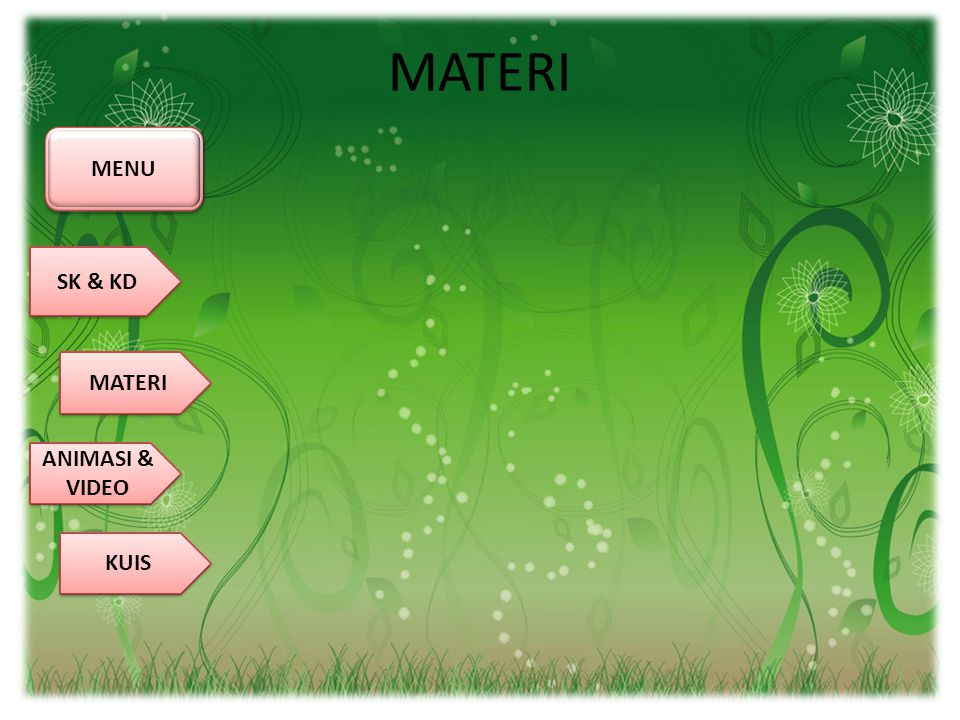 MATERI MENU SK & KD MATERI ANIMASI & VIDEO KUIS