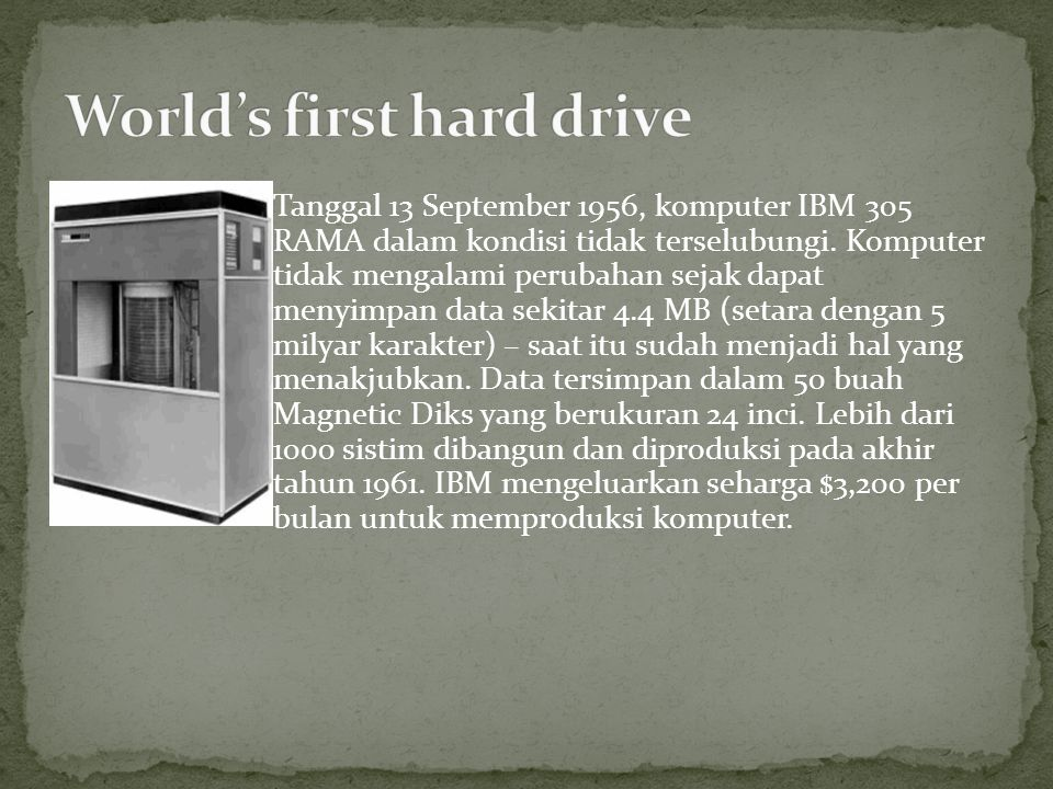 World's first hard drive