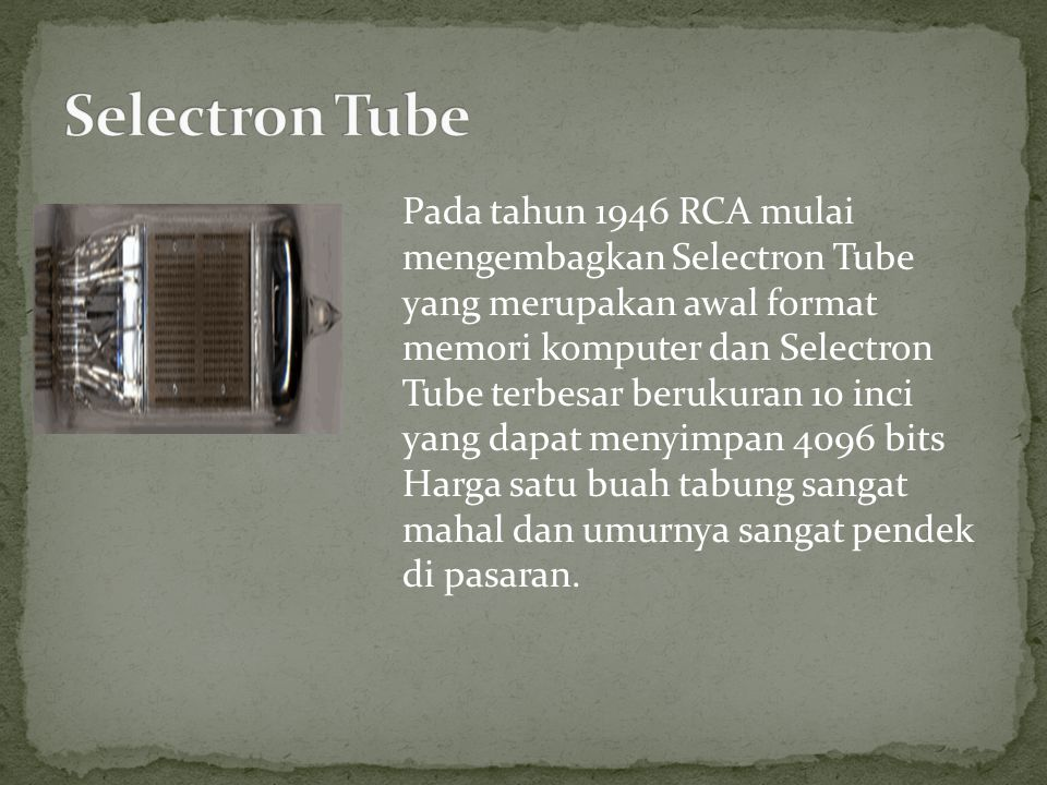 Selectron Tube