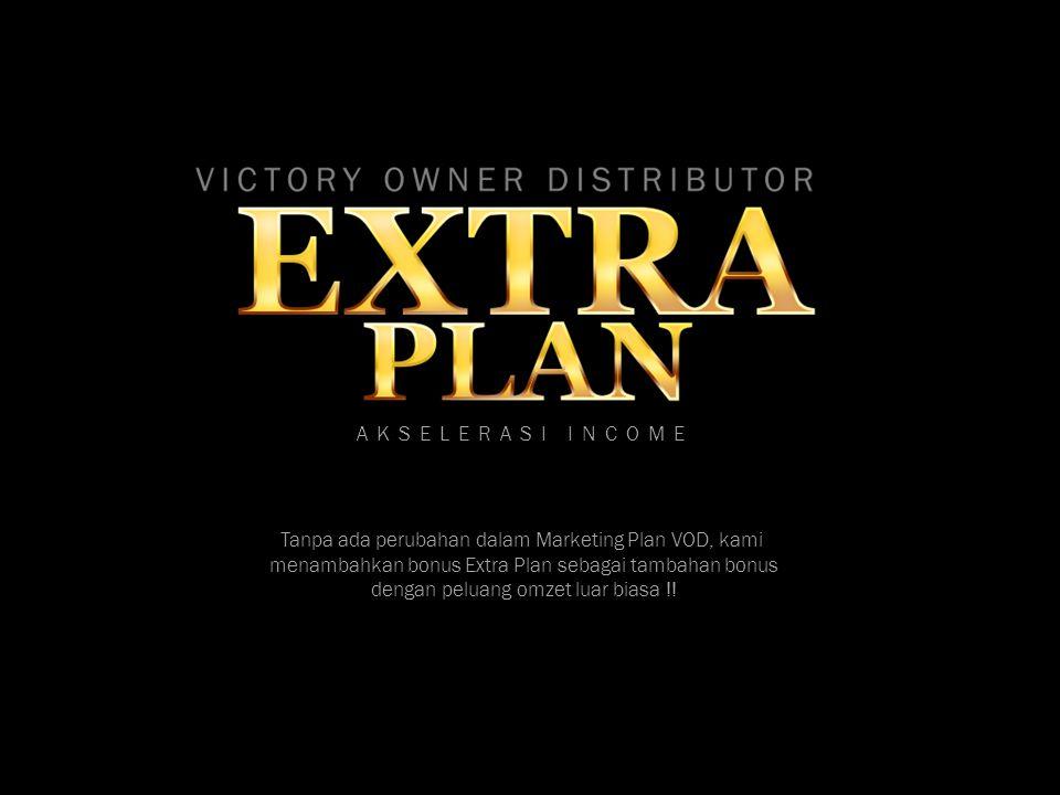 Tanpa ada perubahan dalam Marketing Plan VOD, kami