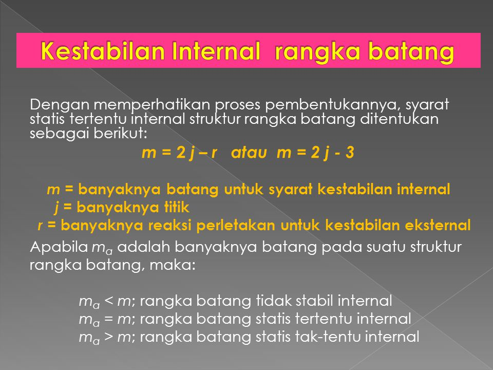 Kestabilan Internal rangka batang