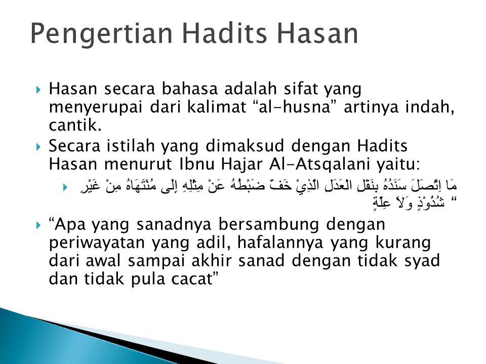 Pengertian Hadits Hasan