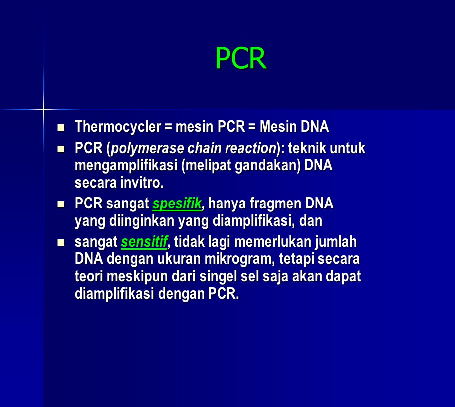 PCR Thermocycler = mesin PCR = Mesin DNA
