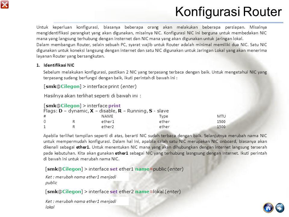 Konfigurasi Router