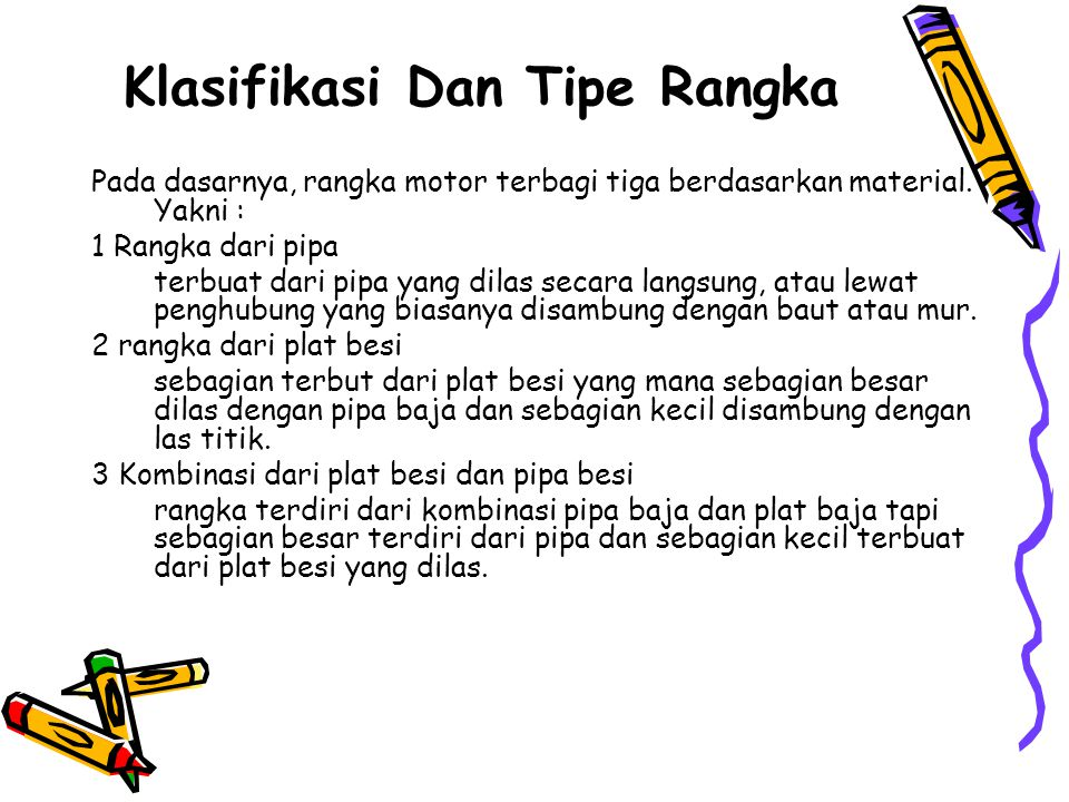 Klasifikasi Dan Tipe Rangka