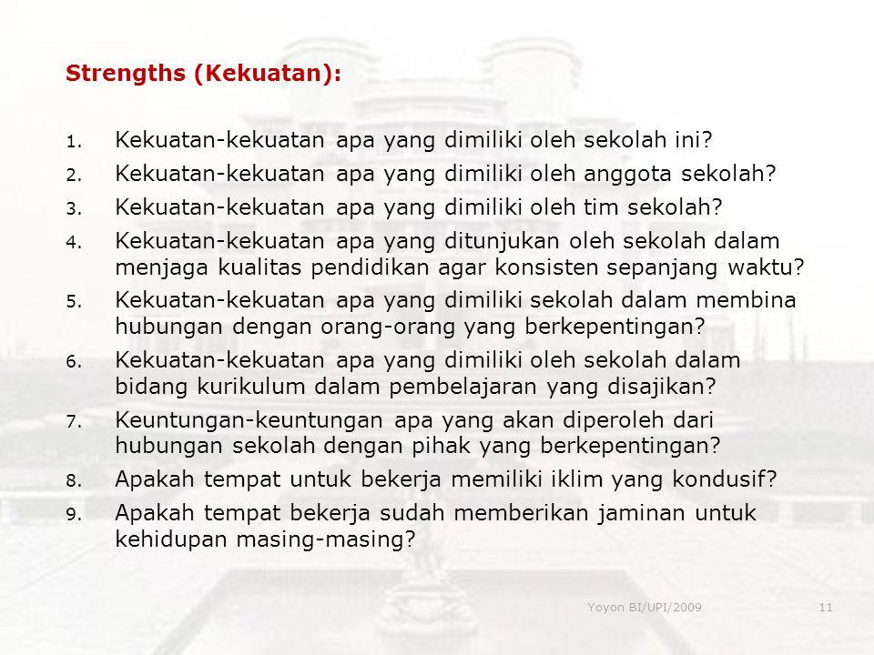 Strengths (Kekuatan):