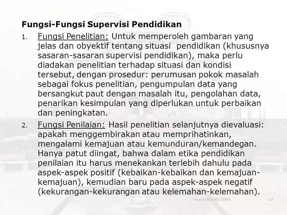 Fungsi-Fungsi Supervisi Pendidikan