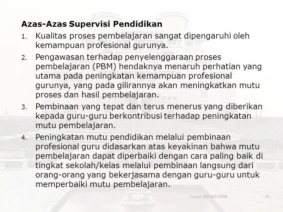 Azas-Azas Supervisi Pendidikan