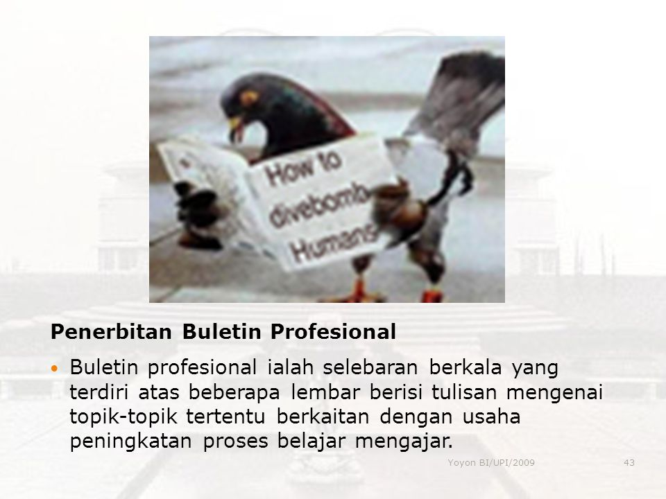 Penerbitan Buletin Profesional