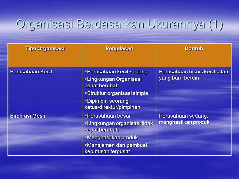 Organisasi Berdasarkan Ukurannya (1)