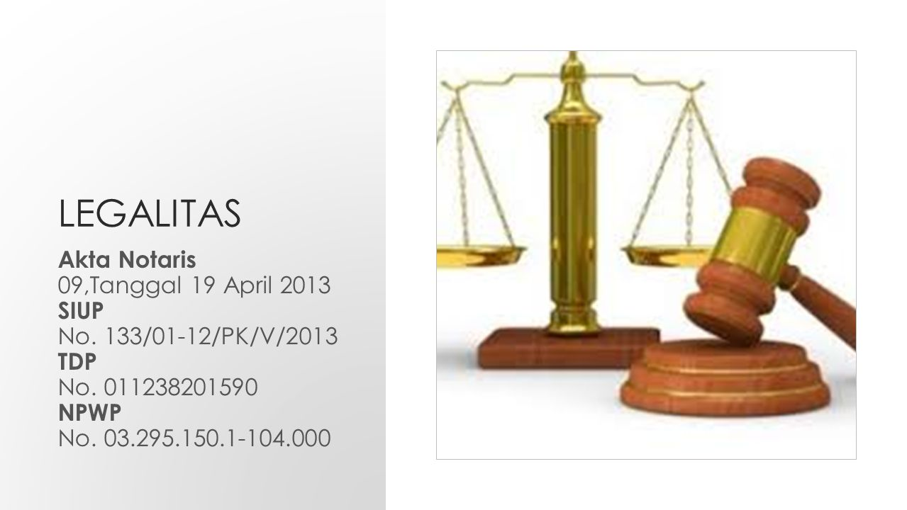 LEGALITAS Akta Notaris 09,Tanggal 19 April 2013 SIUP
