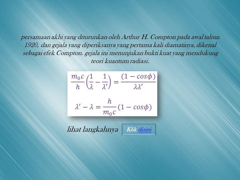 persamaan akhi yang diturunkan oleh Arthur H