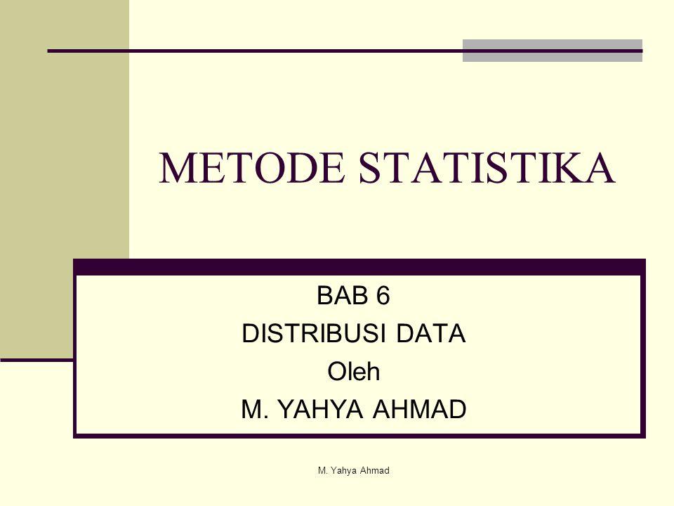 BAB 6 DISTRIBUSI DATA Oleh M. YAHYA AHMAD